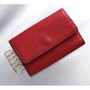 Authentic Louis Vuitton Epi 6-Ring Key Case